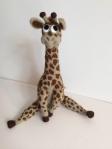 girafe en laine feutrée