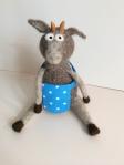 peluche chèvre en laine feutree