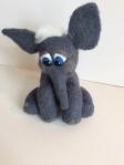 éléphant en laine feutrée