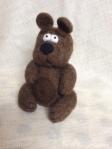 peluche ours en laine feutree