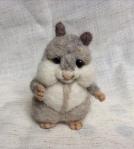 hamster en laine feutree
