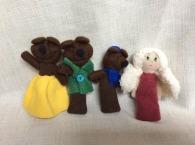 marionnettes doucle d or et trois ours