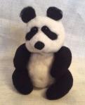 peluche panda en laine feutree
