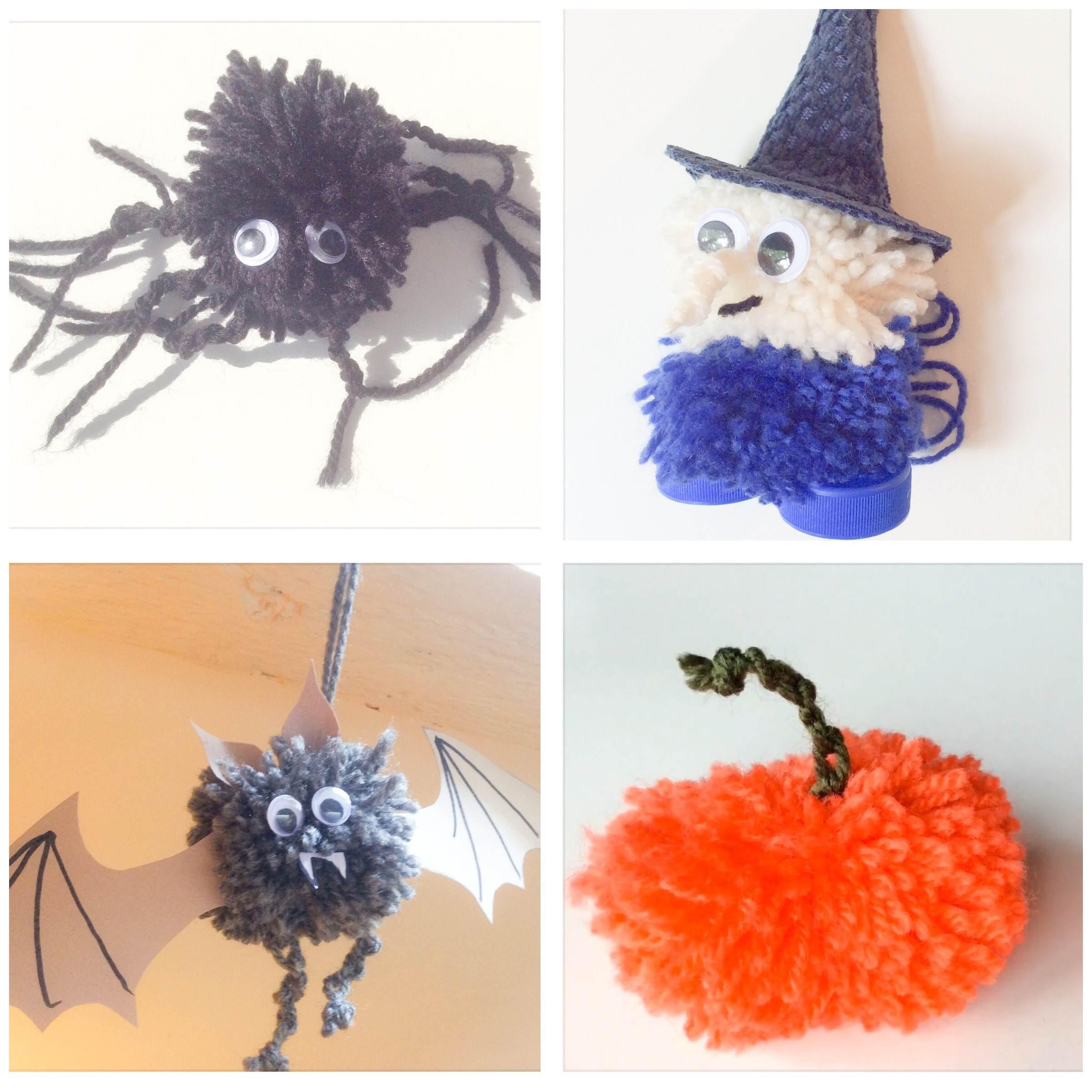 Deco Pompons En Laine halloween. déco en pompons. diy. – omikse